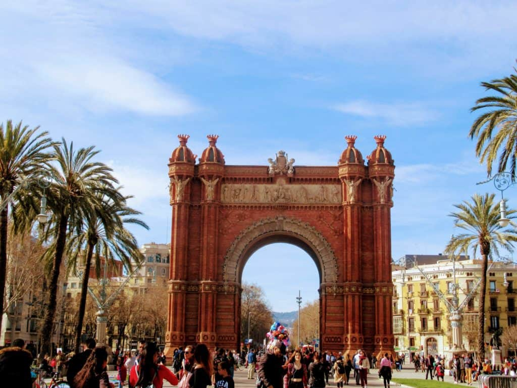 The arch of triumph at Barcelona, Spain where I learned about the power of prayer.