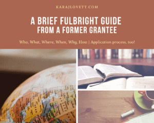 fulbright application guide and advice
