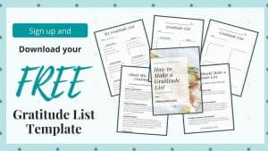 """image shows the pages included in the """"how to make a gratitude list"""" template"""