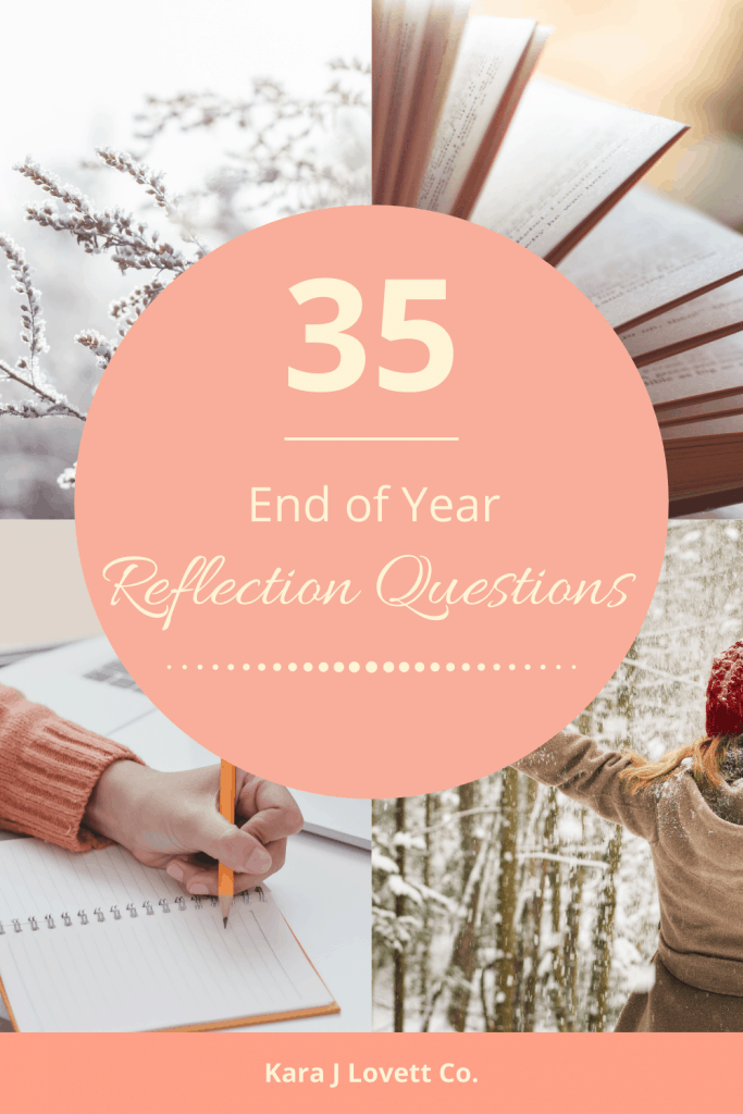 Pinnable image about reflection questions to ask yourself.