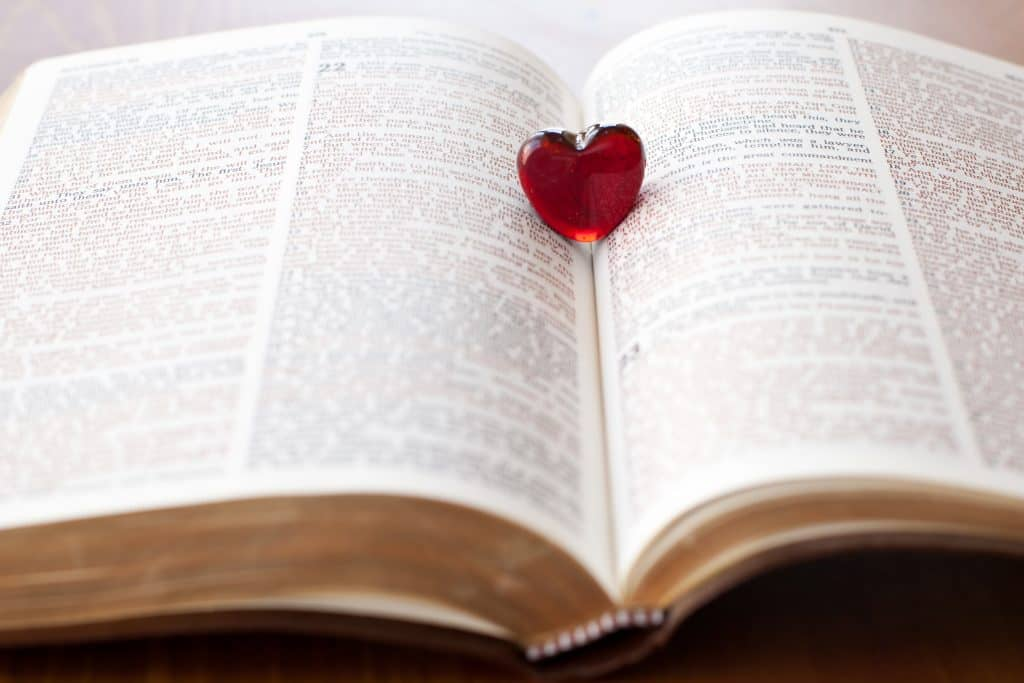 Reading a Bible with a Heart to help with Accepting God's Love
