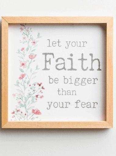 Faith over Fear Decorative Sign