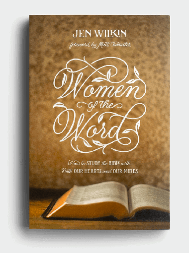 Gold and white book - Women of the Word Book by Jen Wilkin